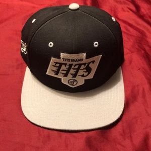 Other - TITS snapback - black and gray